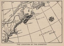 The location of the TITANIC disaster In: Marshall, Logan 1912 Photo