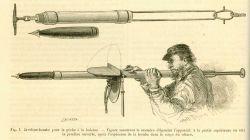 Bomb harpoon demonstrated in La Nature June 1877. Photo