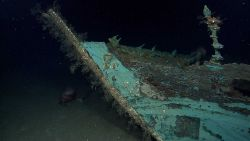 While most of the wood has disintegrated from what is believed to be an early to mid-19th Century wooden-hulled shipwreck, copper sheathing used as pr Photo