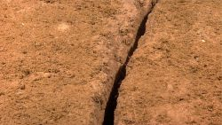 A nearly linear furrow in the seafloor Image