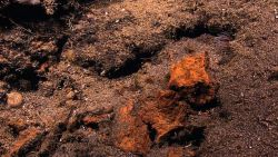 Rocks with iron oxide staining Photo