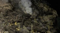 Hydrothermal vent spewing heated fluids on the flank of Kawio Barat volcano Photo