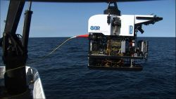 Deep Discoverer ready for launch from the NOAA Ship OKEANOS EXPLORER. Photo