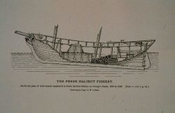 Sectional plan of well-smack employed in the fresh halibut fishery As used on George's Bank 1836 to 1845 Drawing by Capt Photo