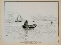 Underrunning cod gill-nets in Ipswich Bay, Massachusetts Drawing by H Photo