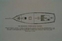 Deck plan of mackerel schooner Drawing by Capt Photo