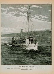 Menhaden steamer Joseph Church Approaching oil and guano factory at Tiverton, R.I Photo