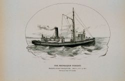 Menhaden steamer William Floyd cruising for fish From sketch by Capt Photo