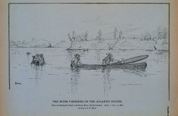 Skim-net fishing for shad in the Neuse River, North Carolina Drawing by H Photo