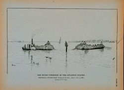 Shad-fishing in Albemarle Sound; laying out the seine Drawing by H Photo