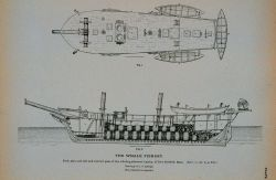 Deck plan and side and interior plan of whaling-schooner Amelia Of New Bedford, Massachusetts Drawing by C Photo