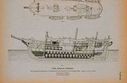 Deck plan and side and interior plan of whaling-bark Alice Knowles Of New Bedford, Massachusetts Drawing by C Photo