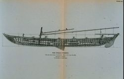 Side and interior plan of whale-boat equipped with apparatus of capture, &c Photo