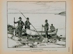 Indian porpoise hunters of Passamaquoddy Bay Canoe, rifle, and lance for capture of porpoise From a photograph by T Photo