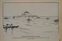 Aleuts sea-otter hunting south of Saanak Island The bidarkies waiting for the otter to rise again Drawing by H Photo