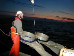 Deploying bongo nets. Photo