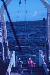 Deploying equipment from stern of NOAA Ship MILLER FREEMAN Photo