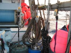 An assemblage of fishing gear Image