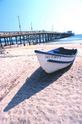 Part of the dory fishing fleet at Newport Beach Photo