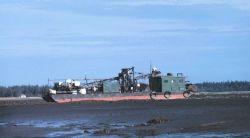Oyster dredge stranded at low tide Photo