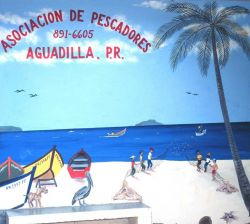 A mural advertising the Fishermen's Association of Aguadilla Image