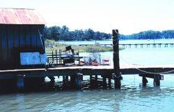 A rustic crab dock at Mills Marina Image