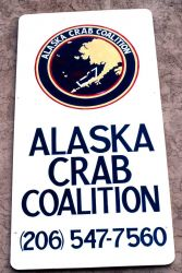 Sign on headquarters of Alaska Crab Coalition Photo