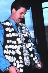 An ornate oyster-shell vest modeled at Anthony's Oyster Olympics Image