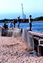 Fishermen trying their luck at Manasquan Inlet Photo