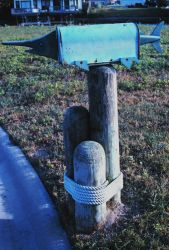 A dedicated fisherman's mailbox sports a billfish Photo