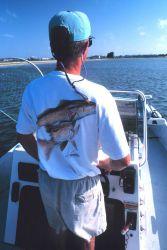 Chuck Urban fishing for redfish in Laguna Madre Photo