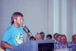 A commercial fisherman voices his views on proposed management measures at a public hearing Image