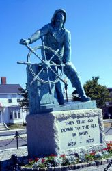 This famous Gloucester, Massachusetts, memorial is a somber reminder of the Atlantic's deadly toll on fishermen. Photo