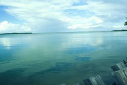 Florida Bay looks serene but is vulnerable to pesticide contamination from runoff. Photo
