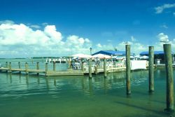 Demand for Florida Keys spiny lobster is heavy at dockside restaurants, like this one in Islamorada. Photo