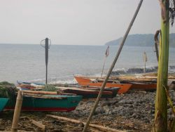 Sao Tomean artisanal fishing boats Photo