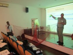 Marcel Kruger and Teresa Turk, TED demonstration, Beginning Fisheries, NMFS International Affairs capacity building course, Sao Tome and Principe Photo