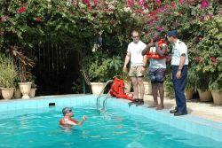 Water survival skills training session for Senegalese artisanal fishermen. Photo