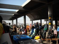 Open air portion of Central Fish Market at Dakar. Photo