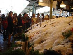 Scene in the Pike Place Fish Market Photo
