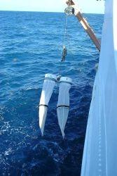 Bongo nets being deployed on NOAA Ship GORDON GUNTER Photo