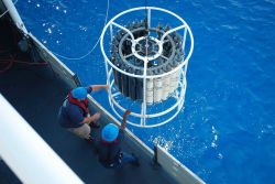 CTD rosette being recovered Photo