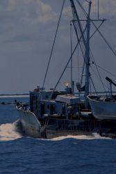 Porgy fishing boat underway Photo