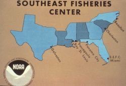 Locations of Southeast Fisheries Laboratories and other facilities as of 1983. Photo