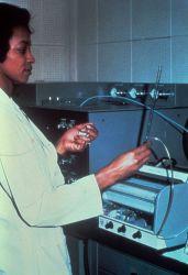Operating laboratory equipment Photo