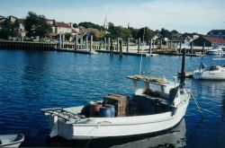 Lobster boat somwhere in New England. Photo
