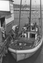 The fishing vessel NORA tied up at the Bumblee Seafoods pier at Ilwaco. Photo