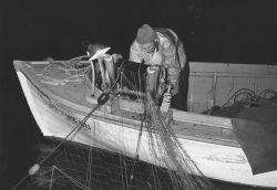 Small boat salmon gill net operations. Photo