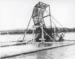 Fishwheels are still a successful method for natives to obtain salmon from many rivers in Alaska for subsistence and dogfood. Photo