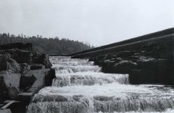 Looking up fish ladder during low river stage Photo